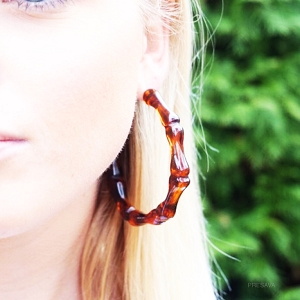 Resin Bamboo Earrings
