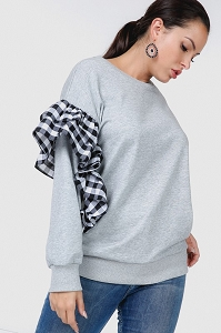 Melange Grey Sweatshirt