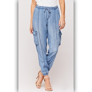 Cargo Chambray Pocket Pants