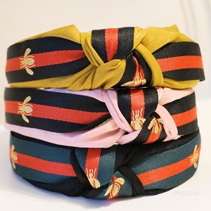 Guccina Red/Green Stripe Headband