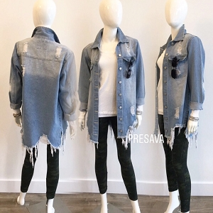 Shirah Torn Denim Jacket