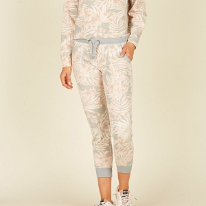 Leaf Print Tropical Joggers
