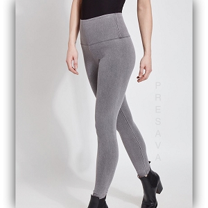 High Waist Grey Denim Legging