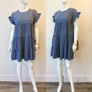 Misty Chambray Dress