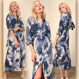 Chelsea Tie Dye Navy Dress
