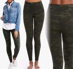 High Waist Green Camouflage Spanx Legging