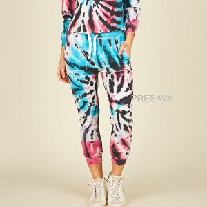 Tie Dye Swirl Jogger With Side Pockets
