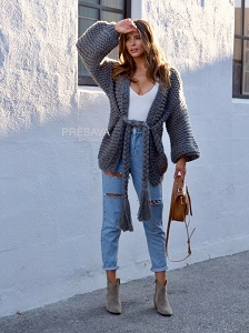 Giselle Hand Knit Cardigan