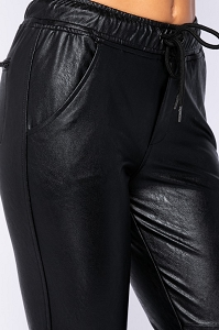 Vegan Leather Joggers