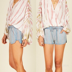 Stripe Pockets Shorts