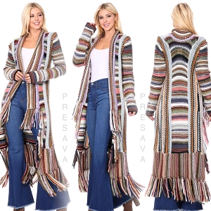 Multi Color Fringe Cardigan