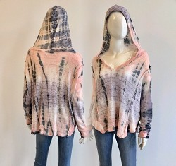 Alanna TieDye Hooded Knit Top