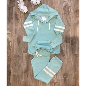 Port Stripes Mint Sweatsuit