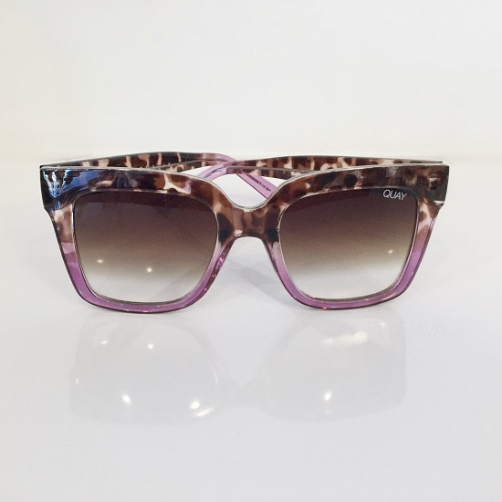 Pink Leopard Abstract Sunglasses