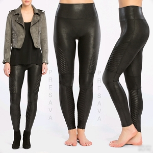 Moto Style Faux Leather Leggings