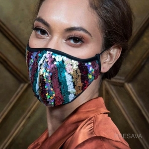 Dazzled Sequins Designer Mask