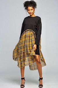 Nora Plaid Dress