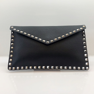 Rockstar Studded Envelope Clutch Bag