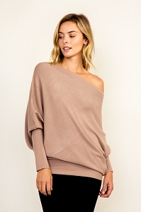 Piara Boat Neck Knit Top
