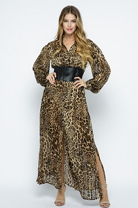Leopard Flow Dress
