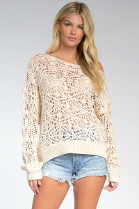 Charlie Knit Crochet Top