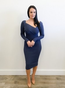 Matisse Ribbed Plunged Dress